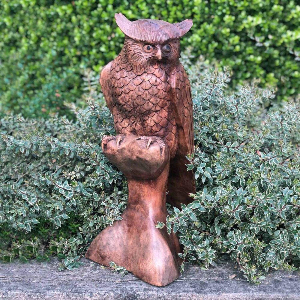 Escultura Coruja 52cm - Foto 1
