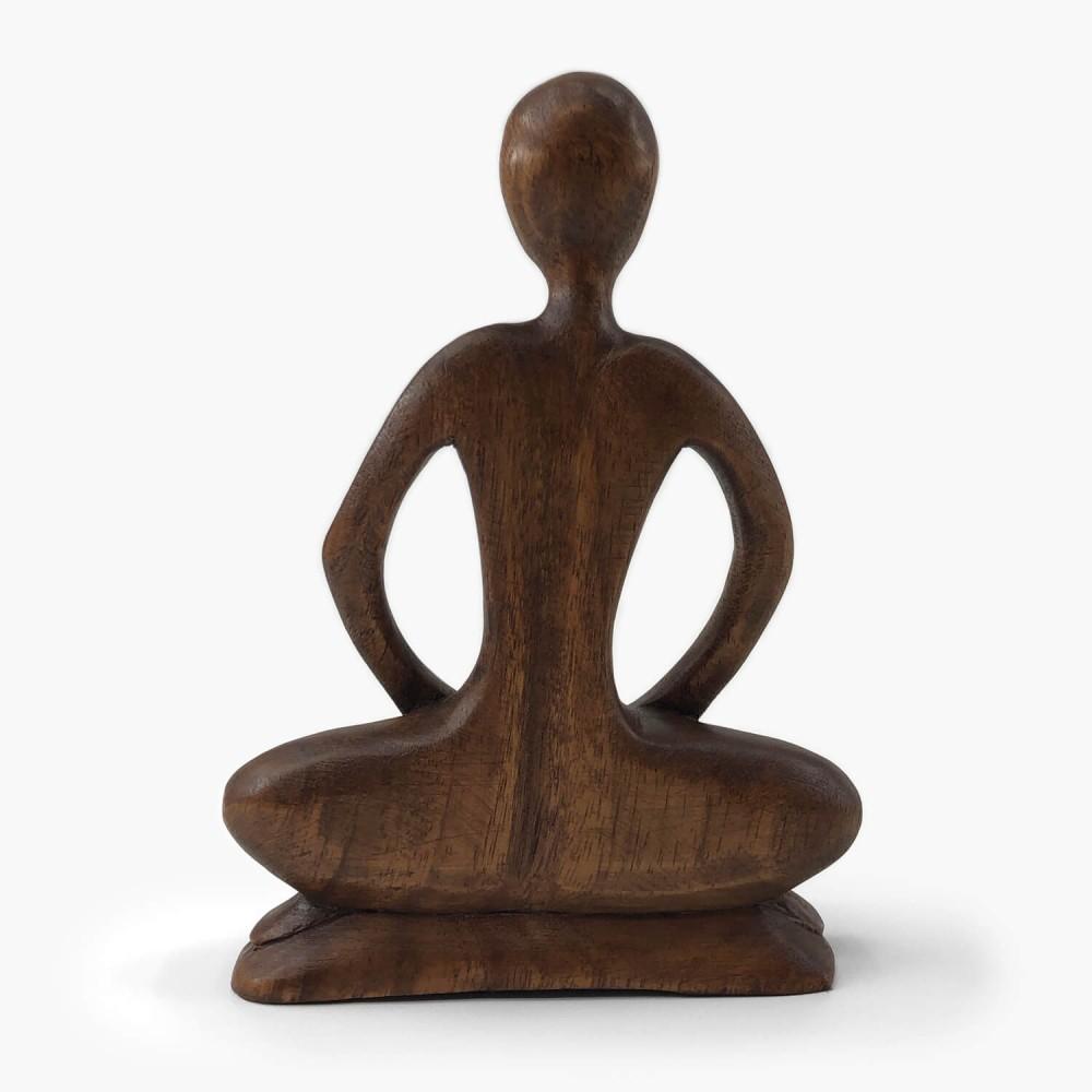 Escultura de Madeira Meditação  - Foto 2