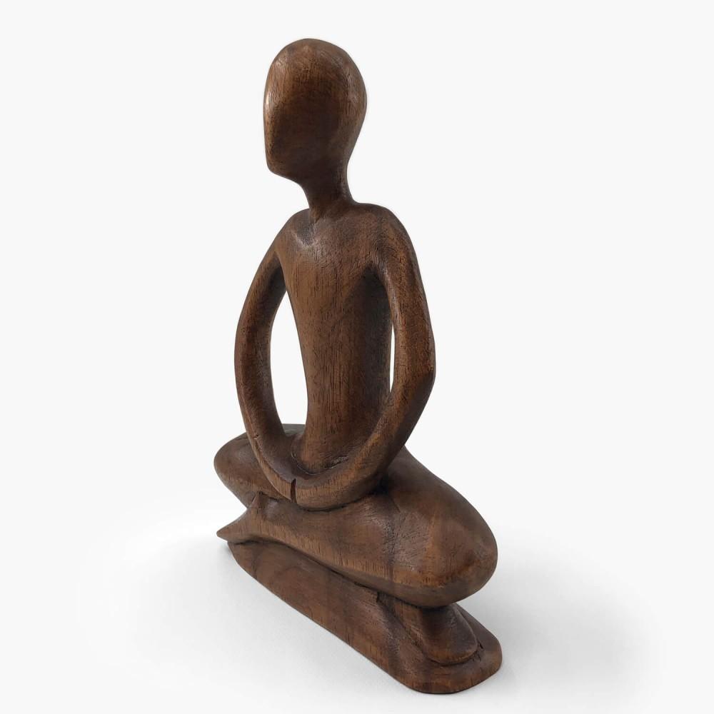 Escultura de Madeira Meditação  - Foto 3