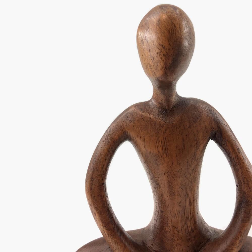 Escultura de Madeira Meditação  - Foto 4