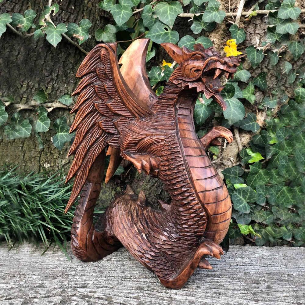 Escultura Dragão Alado - Foto 1