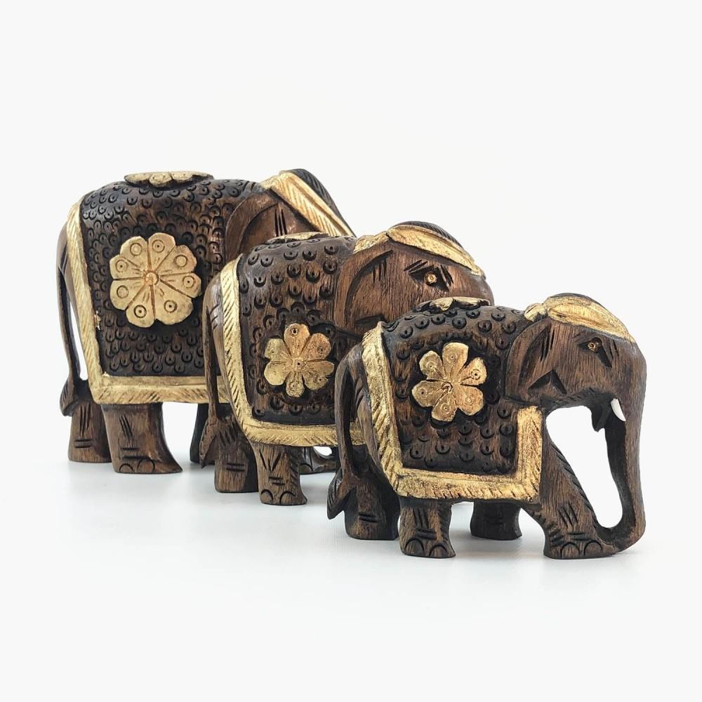 Escultura Elefante Dourado - Foto 2