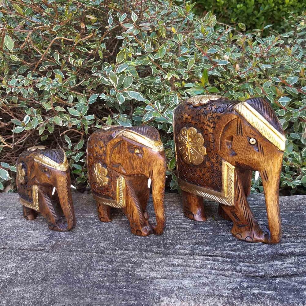 Escultura Elefante Dourado - Foto 1