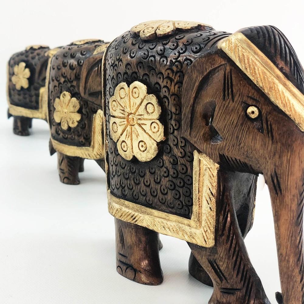 Escultura Elefante Dourado - Foto 3