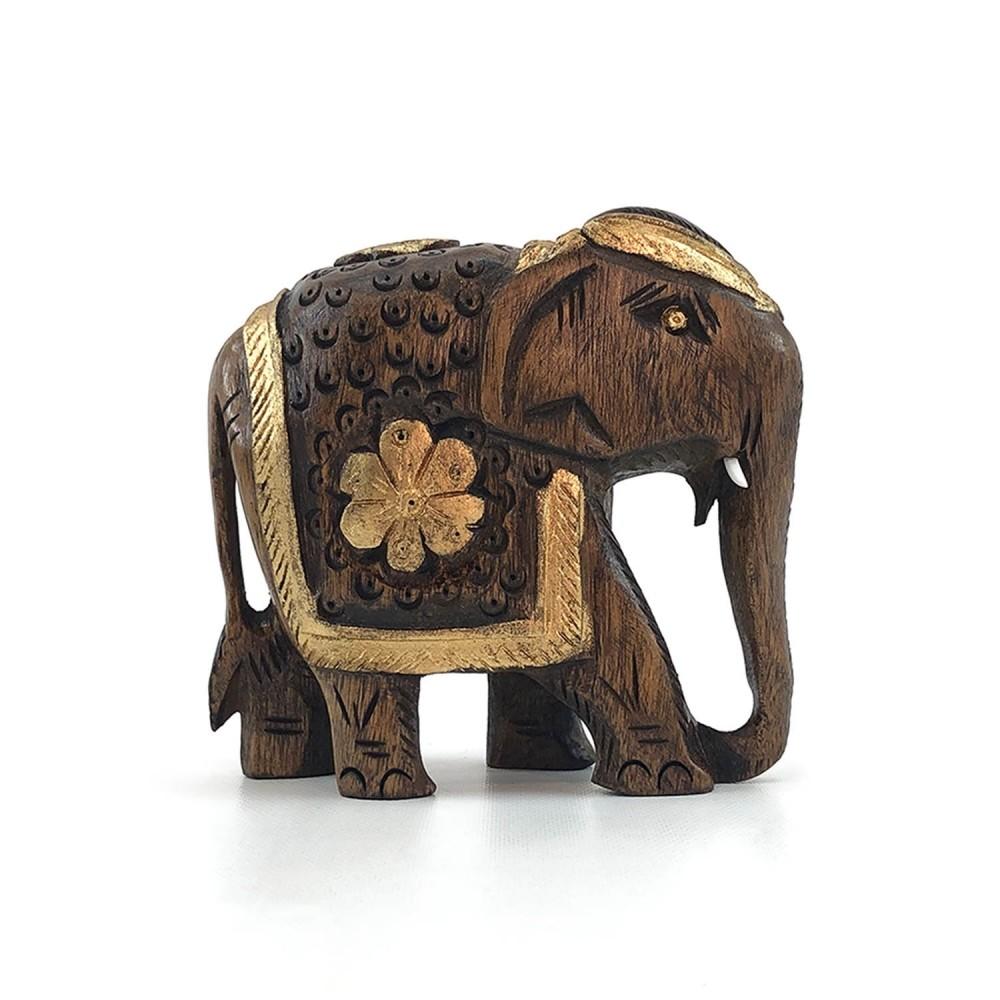 Escultura Elefante Dourado - Foto 6