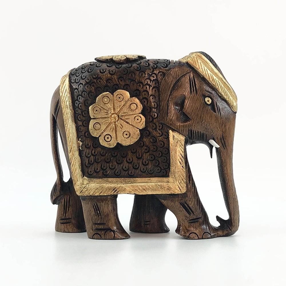 Escultura Elefante Dourado - Foto 7