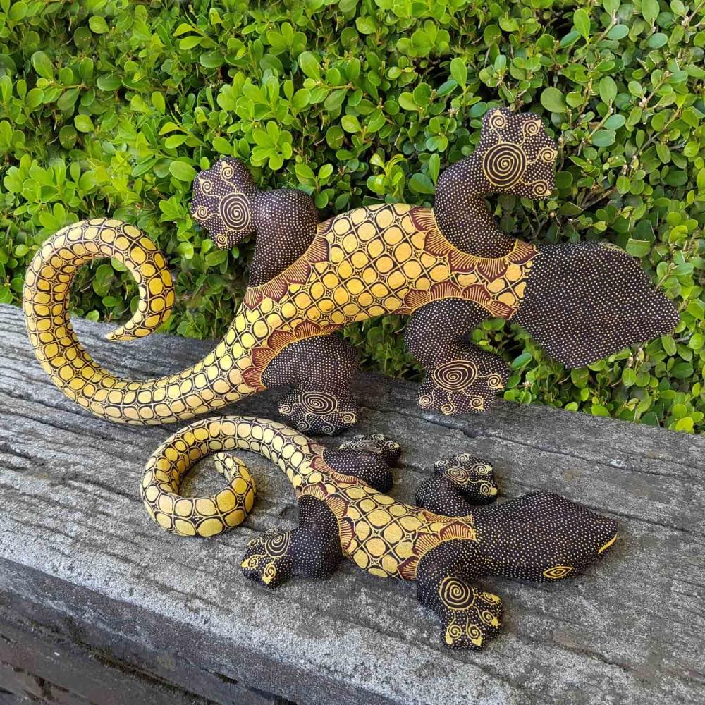 Escultura Lagartixa Batik - Foto 1