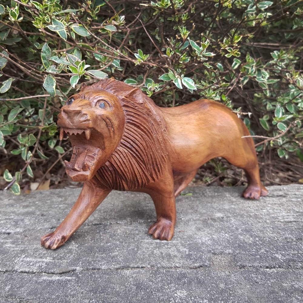 Escultura Leão 20cm - Foto 1