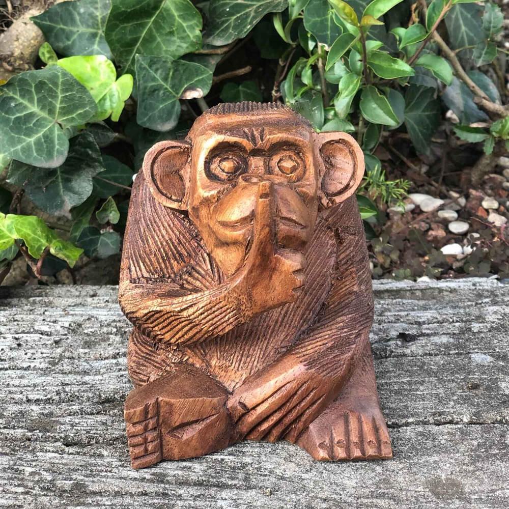 Escultura Macaco 11cm - Foto 1
