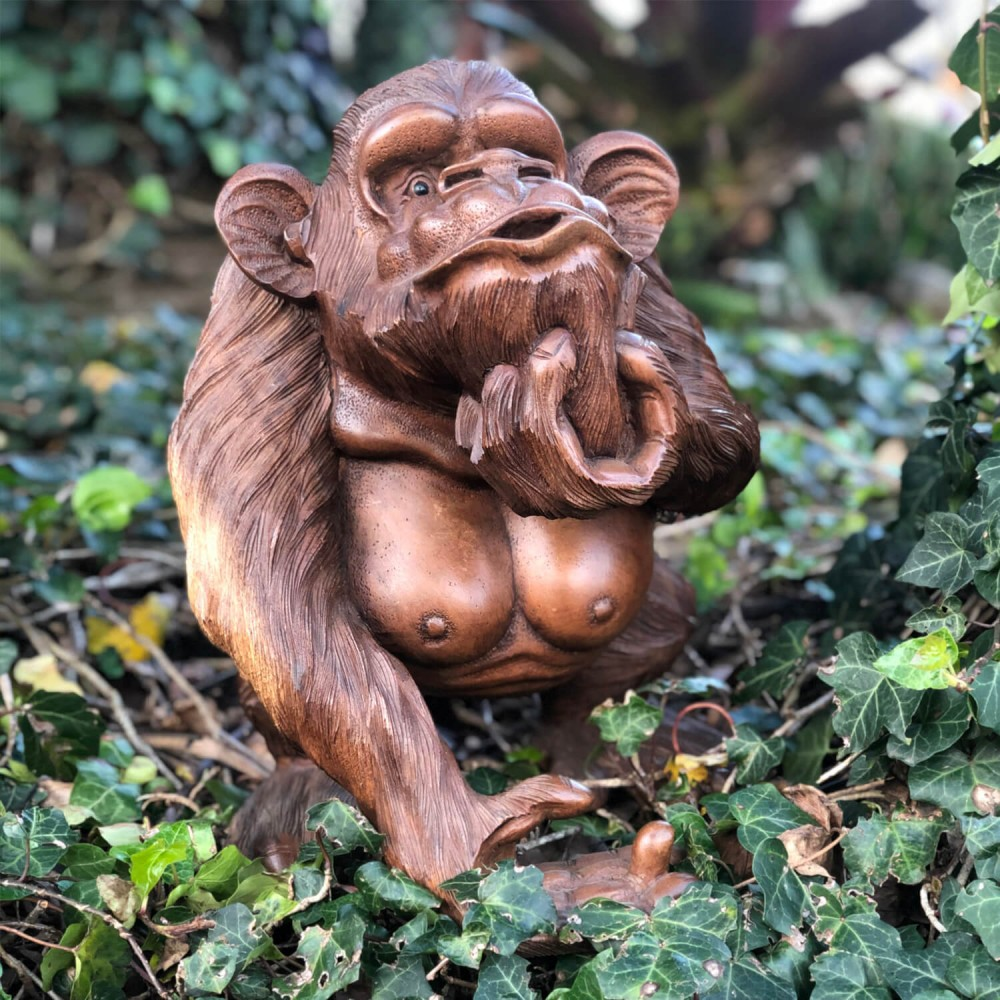 Escultura Macaco 42cm - Foto 1
