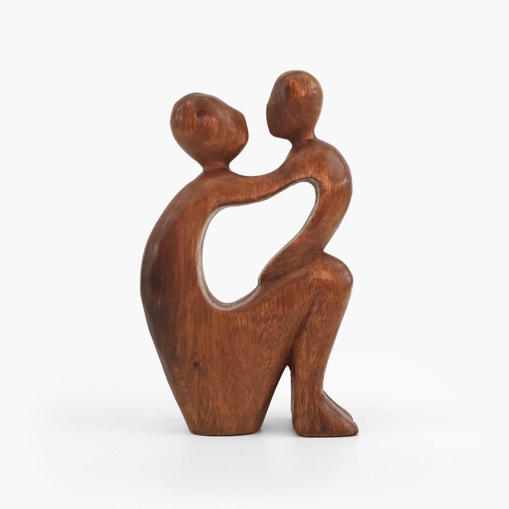 Escultura Mãe e Filho 20cm - Foto 1