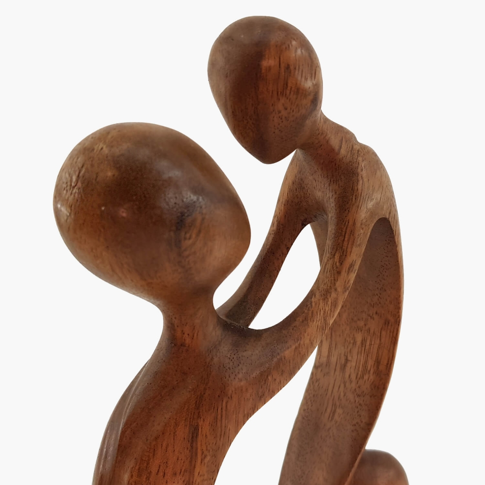 Escultura Mãe e Filho 30cm - Foto 2