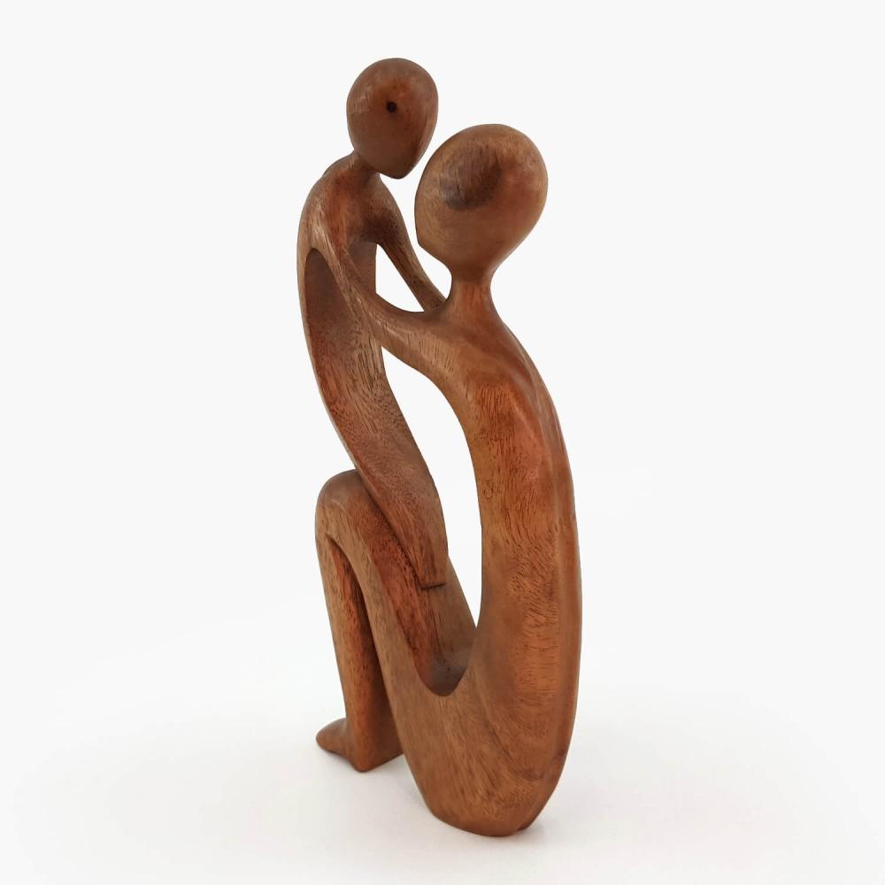 Escultura Mãe e Filho 30cm - Foto 4