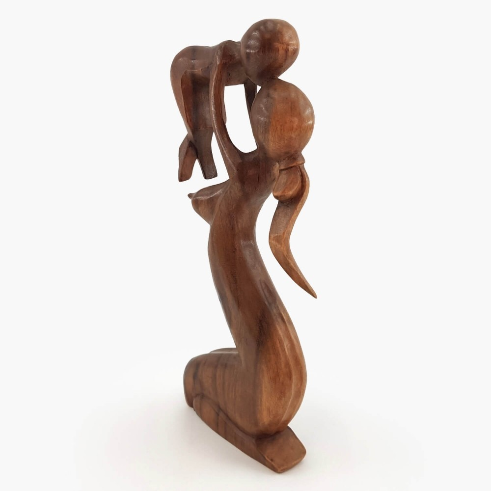 Escultura Mãe e Filho 40cm - Foto 2