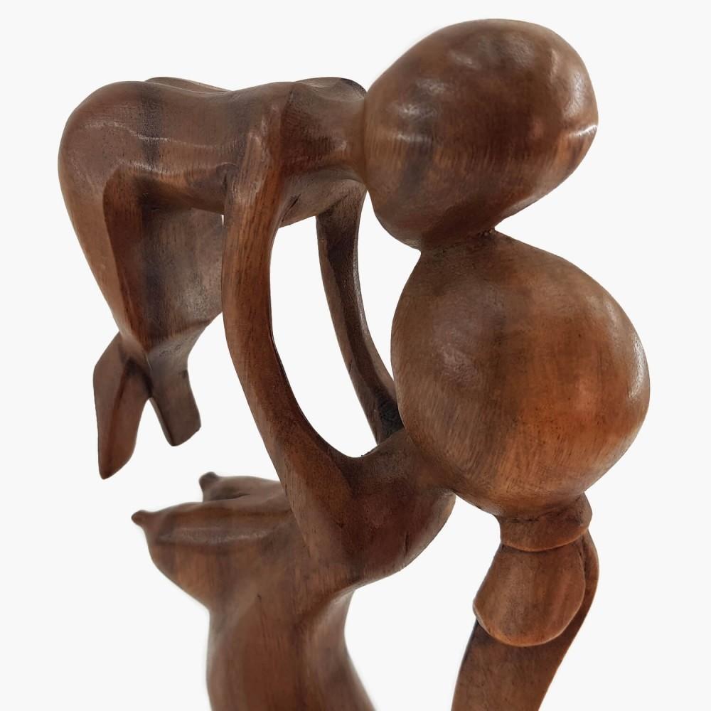 Escultura Mãe e Filho 40cm - Foto 4