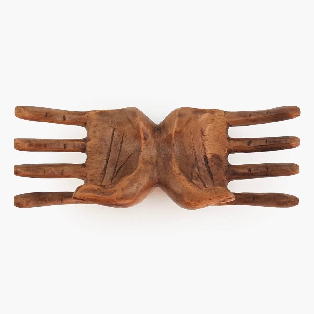 Escultura Mão Dupla 19cm - Foto 4