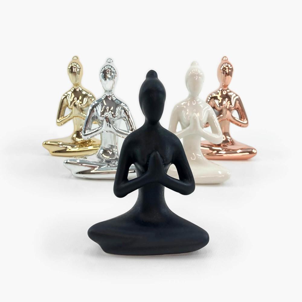 Estátua Porcelana Yoga  - Foto 1