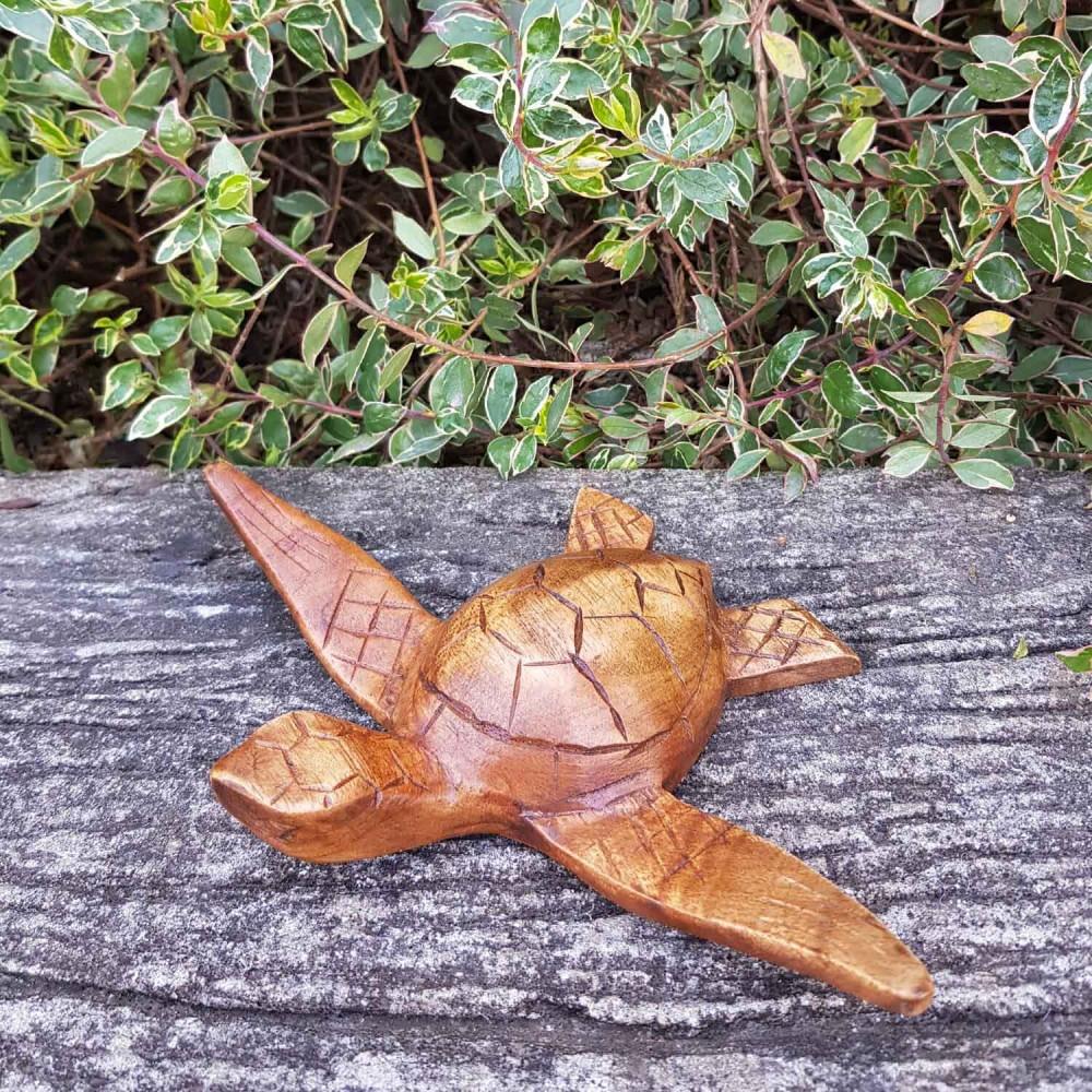 Escultura Tartaruga 12cm - Foto 1