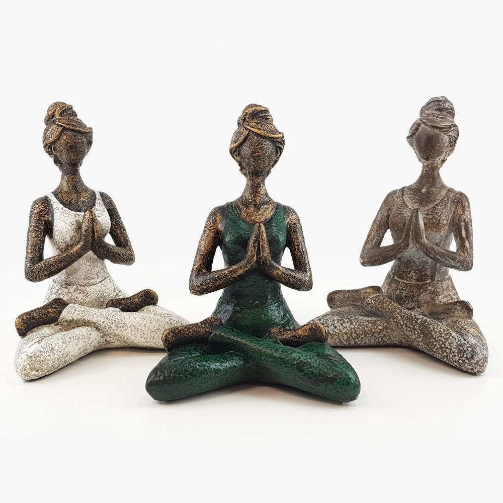 Estátua Yoga 23cm - Foto 1