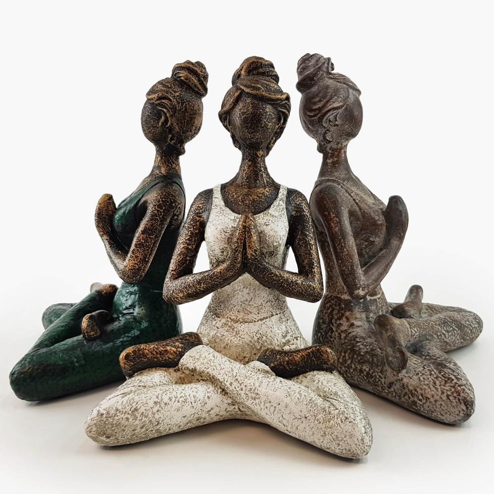 Estátua Yoga 23cm - Foto 2