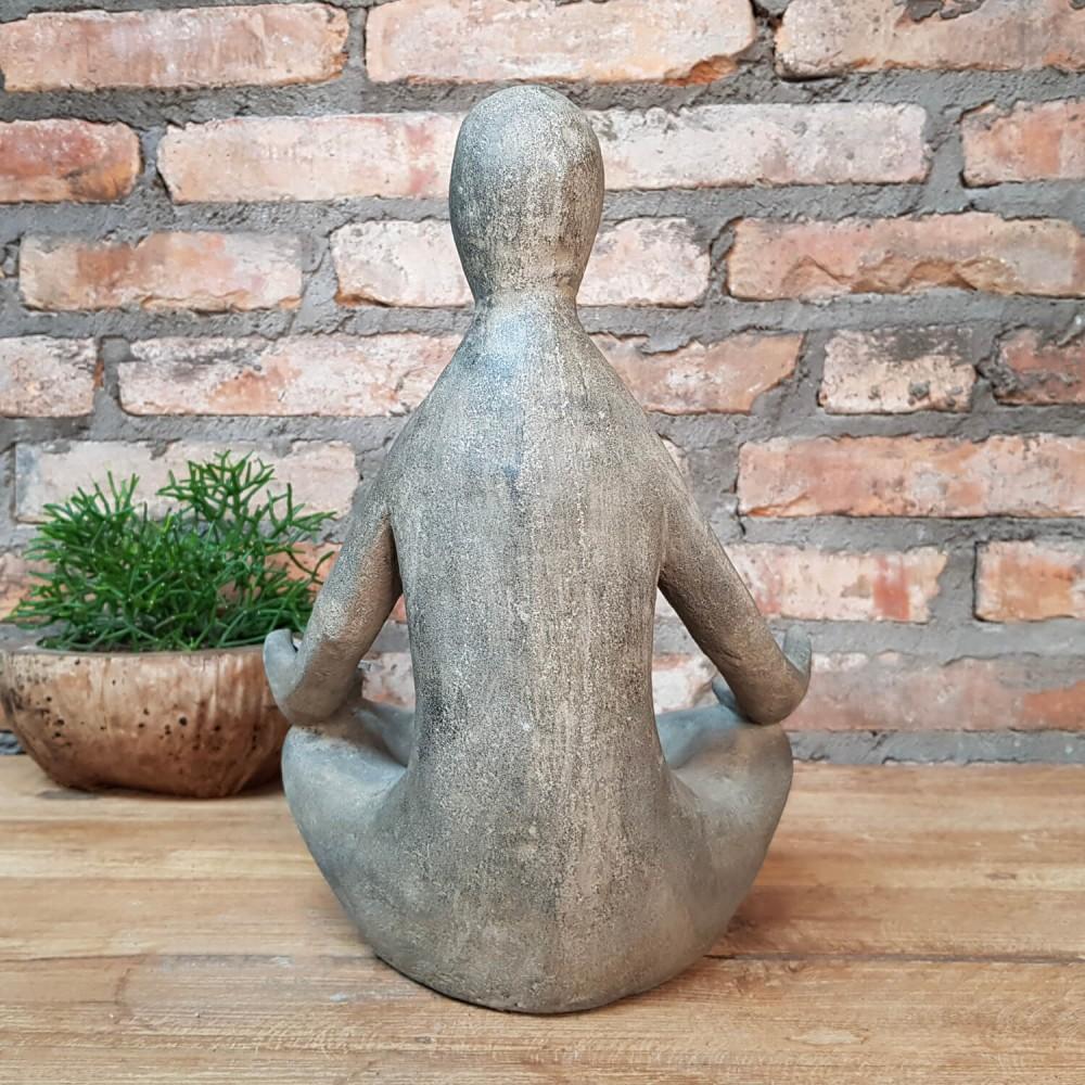 Estátua Yoga Floreira 30cm - Foto 3