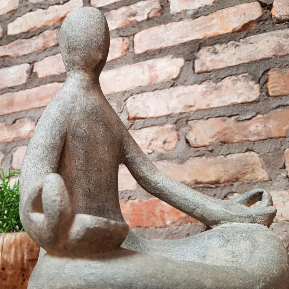 Estátua Yoga Floreira 30cm - Foto 4