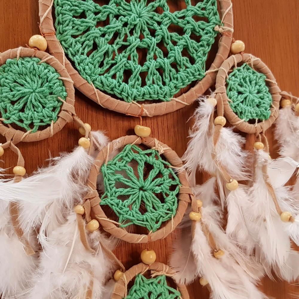 Filtro dos Sonhos 11,5x43cm - Verde - Foto 2