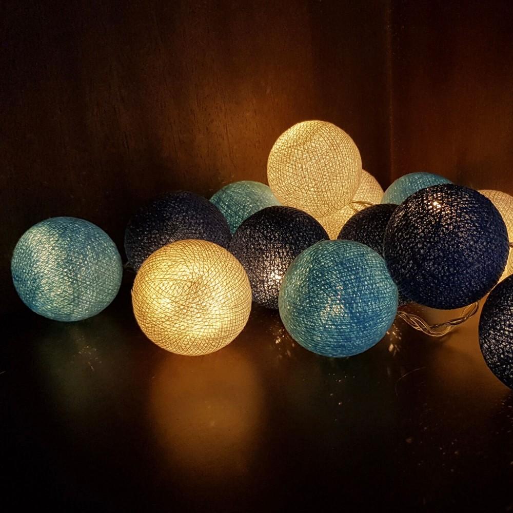 Cordão Luminária 20 lâmpadas - Tons de Azul - Foto 1