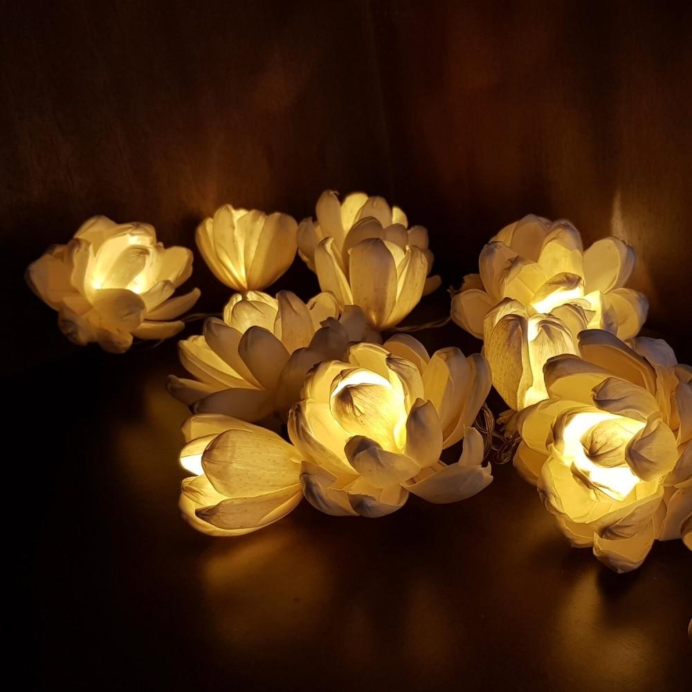 Cordão Luminária 20 lâmpadas - Flores - Foto 1
