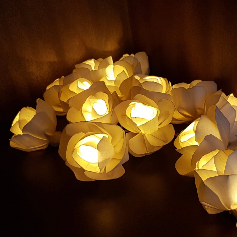Cordão Luminária Flores - 20 lâmpadas  - Foto 1