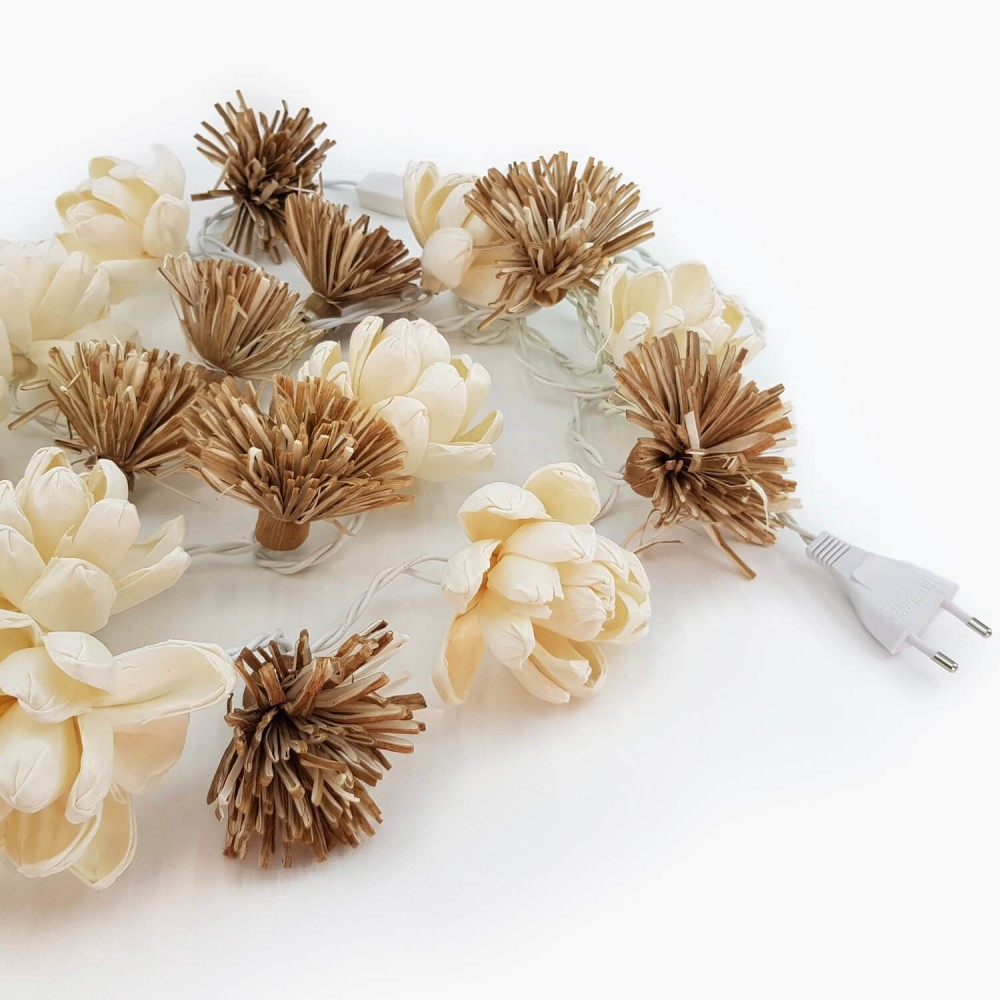Cordão Luminária Flores Mix - 20 lâmpadas  - Foto 2