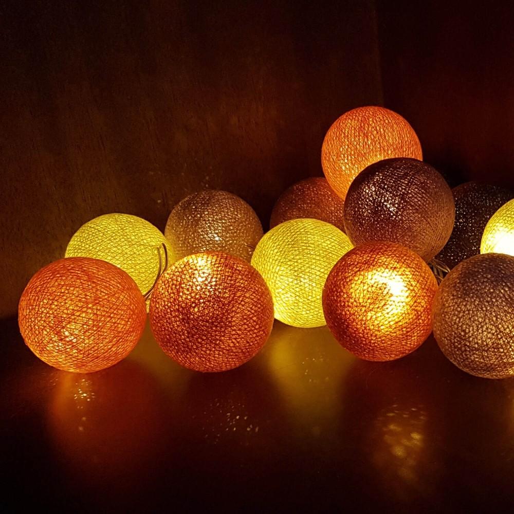 Cordão Luminária 20 lâmpadas - Tons Quentes - Foto 1