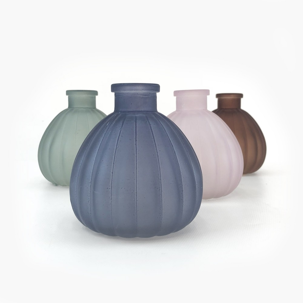 Frasco vidro colorido 10cm  - Foto 1