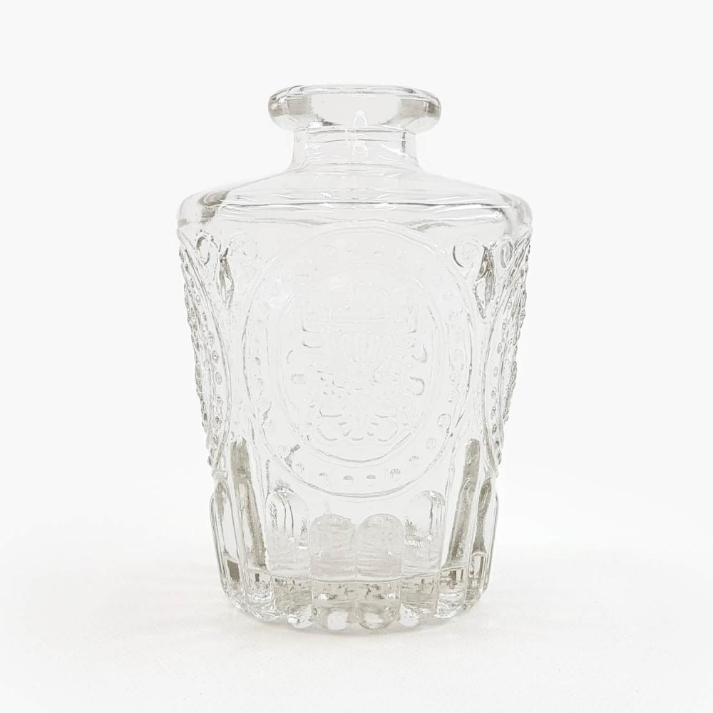 Frasco vidro transparente 10cm - Foto 1