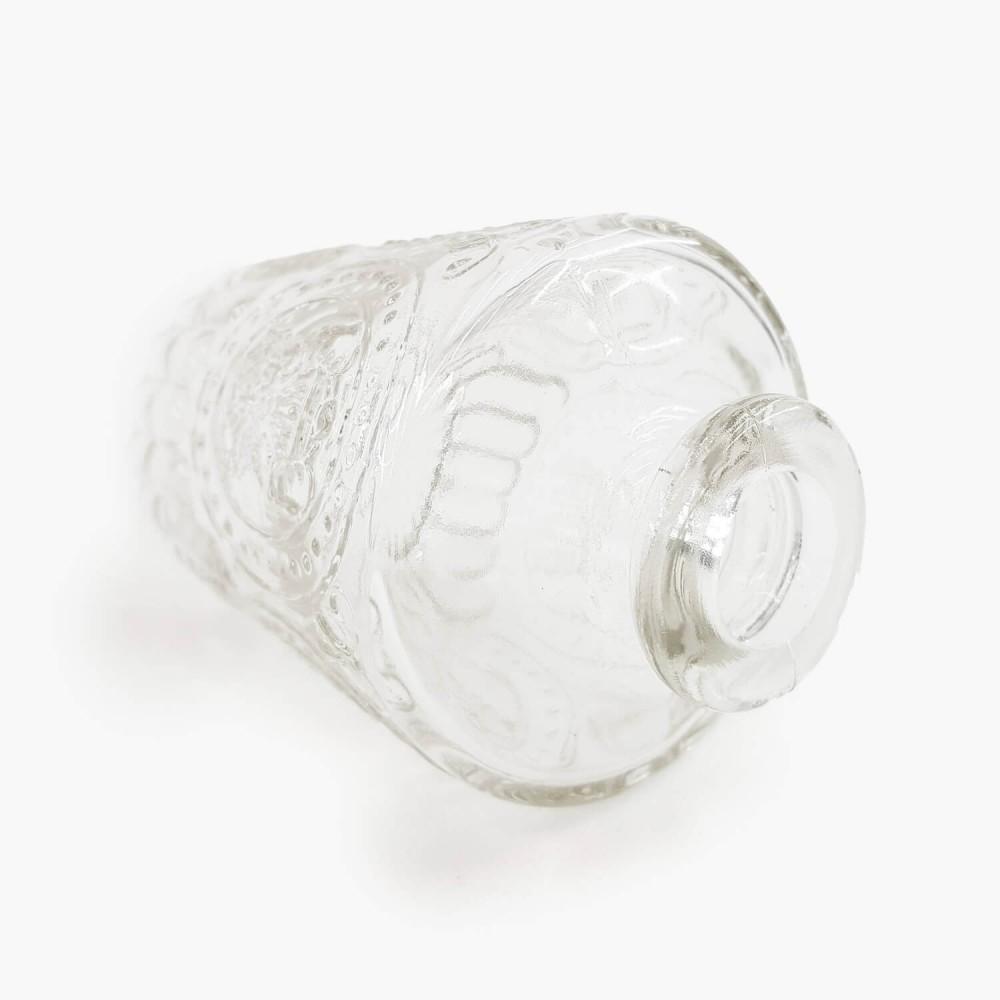 Frasco vidro transparente 10cm - Foto 2