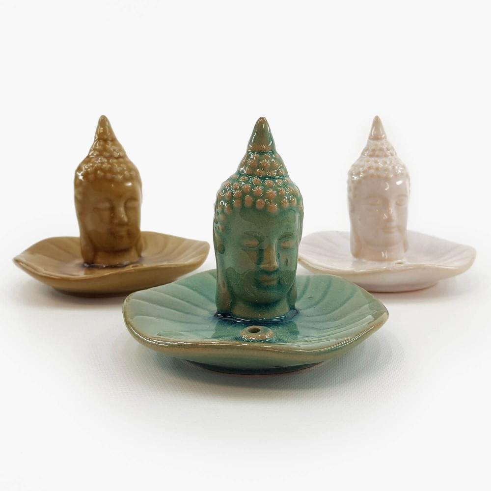 Incensário Buda Cerâmica - Foto 1