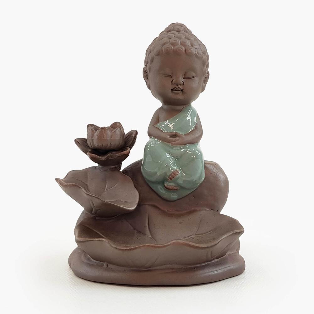 Incensário Buda Efeito Cascata 14cm - Foto 1