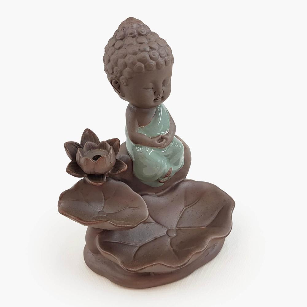 Incensário Buda Efeito Cascata 14cm - Foto 2