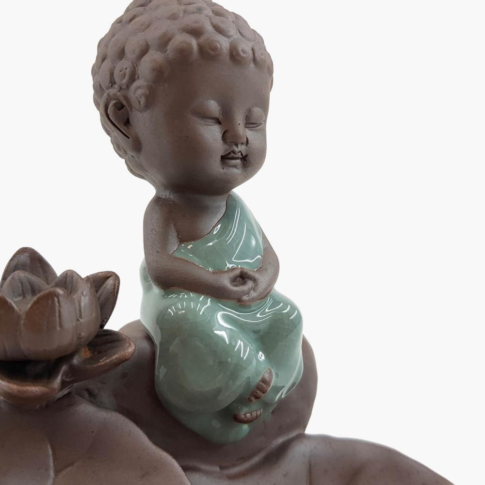 Incensário Buda Efeito Cascata 14cm - Foto 4