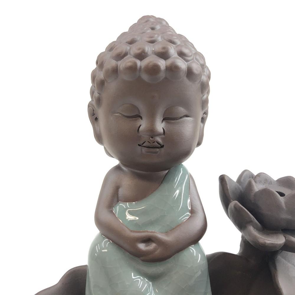Incensário Buda Efeito Cascata 16cm - Foto 4