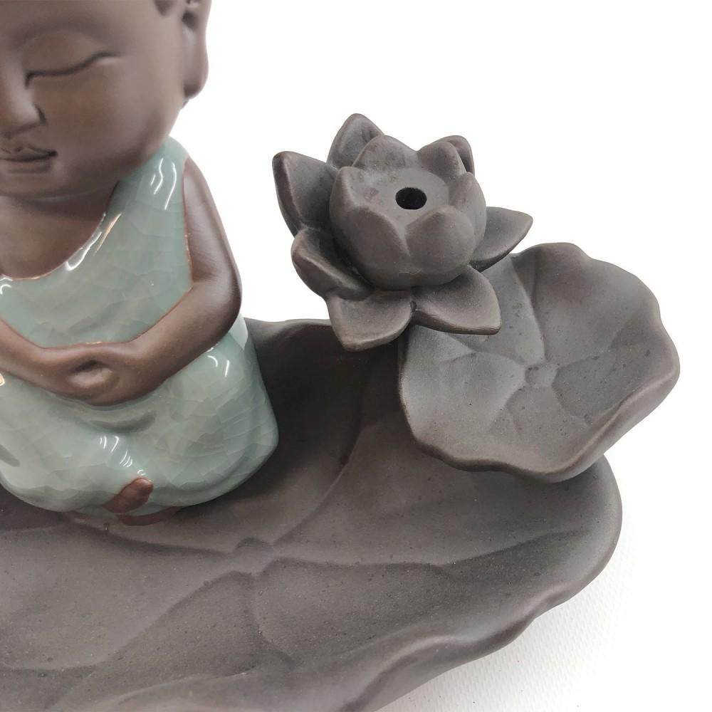 Incensário Buda Efeito Cascata 16cm - Foto 5