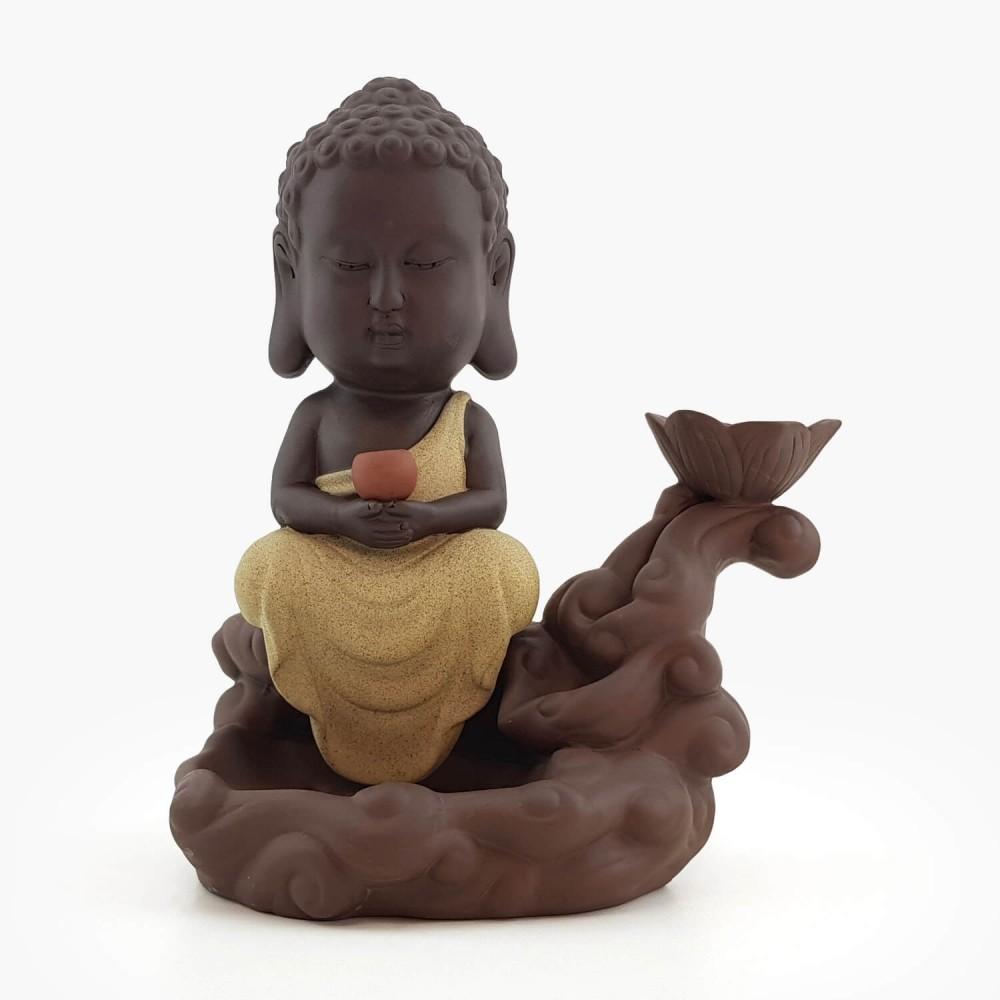 Incensário Buda Efeito Cascata - 24cm - Foto 1