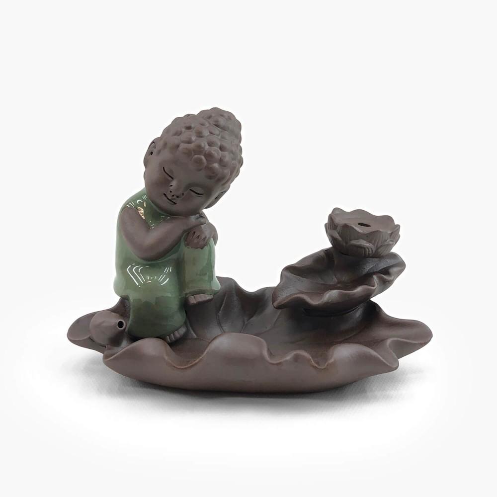 Incensário Buda Efeito Cascata 10cm  - Foto 1