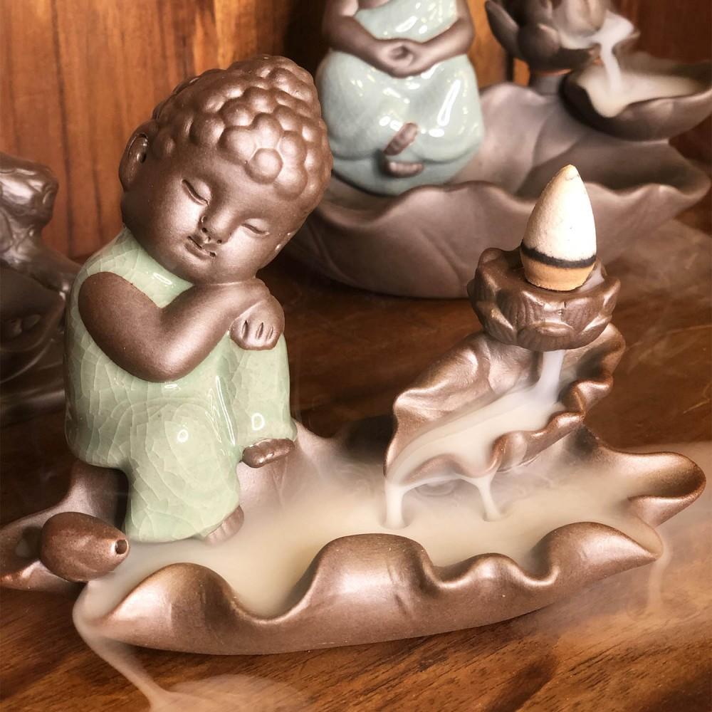 Incensário Buda Efeito Cascata 10cm  - Foto 2