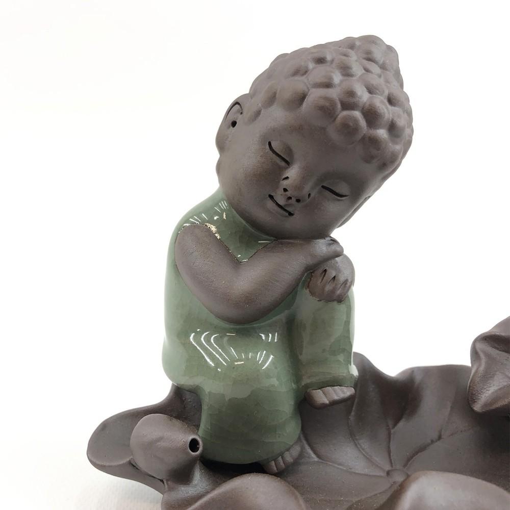 Incensário Buda Efeito Cascata 10cm  - Foto 4