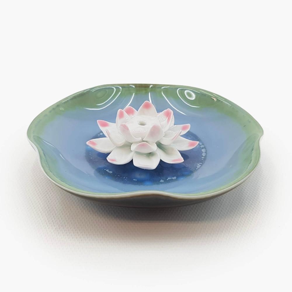 Incensário Flor de Lótus 11cm - Foto 1