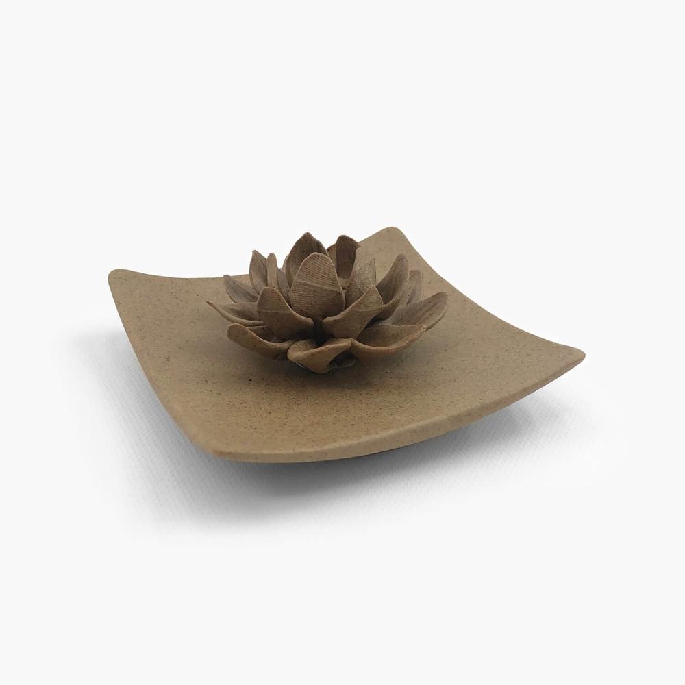 Incensário Flor de Lótus 9,5cm - Foto 1