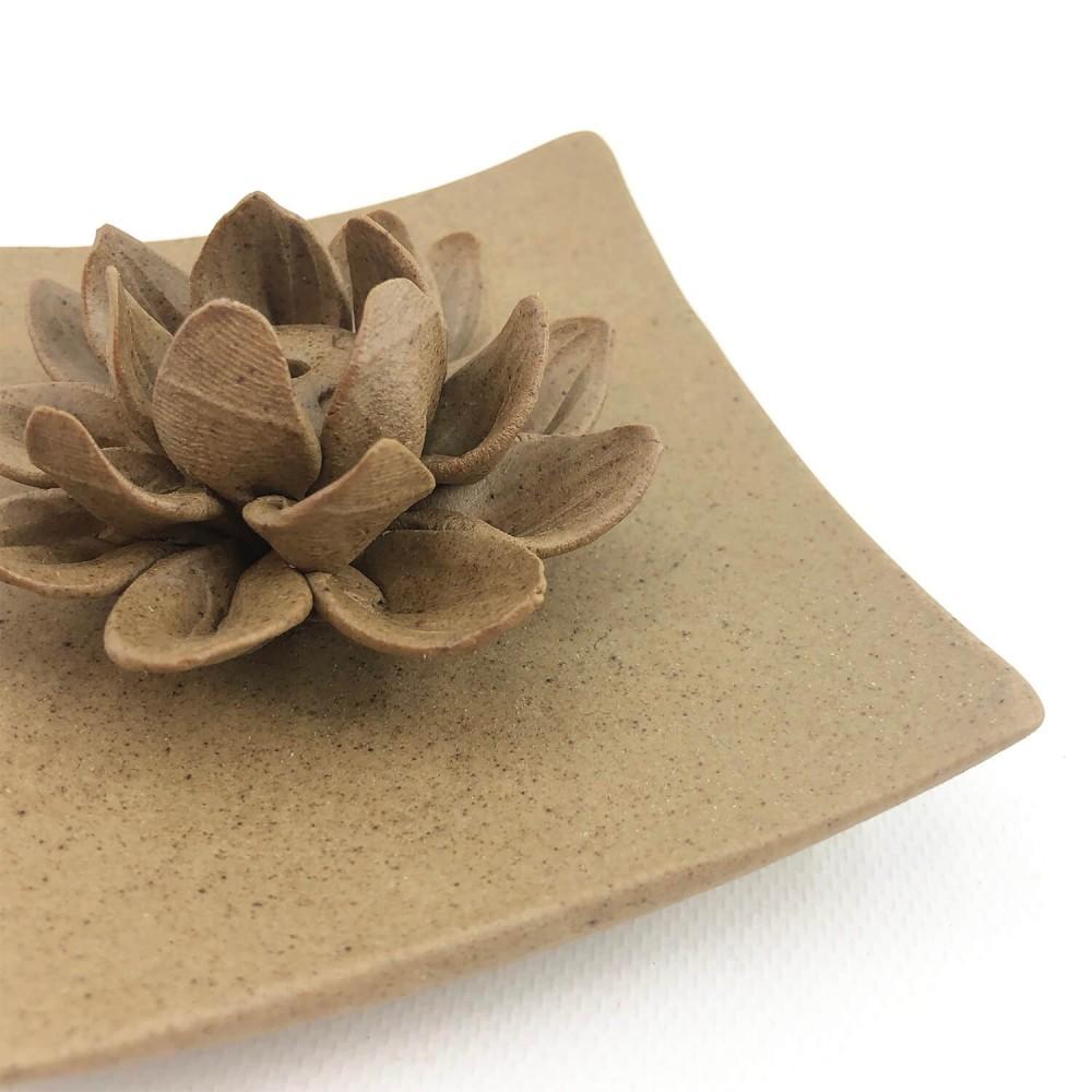 Incensário Flor de Lótus 9,5cm - Foto 2