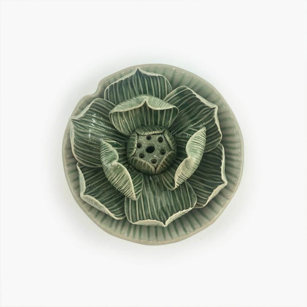 Incensário Flor de Lótus 9cm - Foto 1