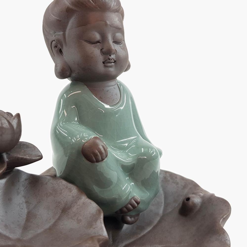 Incensário Kwan Yin Efeito Cascata 15cm - Foto 2